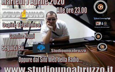 7  Aprile 2020 Carmine Nappi Ospite telefonico Su Studio Uno Abruzzo Ore 23:00
